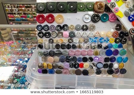 roupa · botões · coleção · bagunça · padrão · de · costura - foto stock © lunamarina