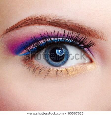 girl's eyezone makeup stock photo © zastavkin