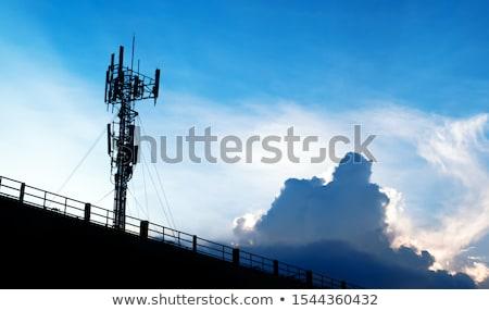 parabolaantenna · antenna · radar · kék · ég · számítógép · hálózat - stock fotó © studiotrebuchet