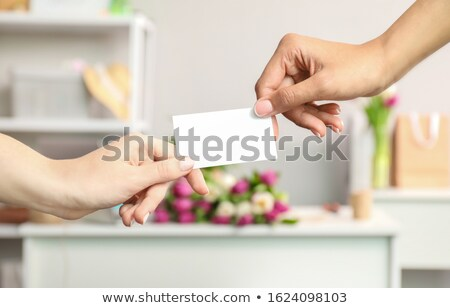 African florist with business card Stock photo © photography33