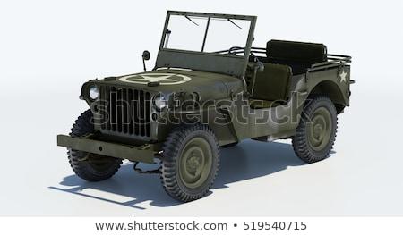 American Military Green Army Jeep Vehicle Stock photo © bobbigmac
