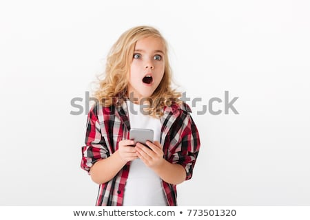 Little girl holding photo of mouth Stock photo © photography33