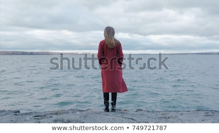 girl with red sarong stock photo © dolgachov