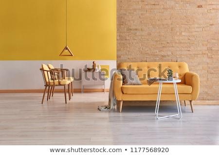 красный · современных · интерьер · мебель · два · комфорт - Сток-фото © ciklamen