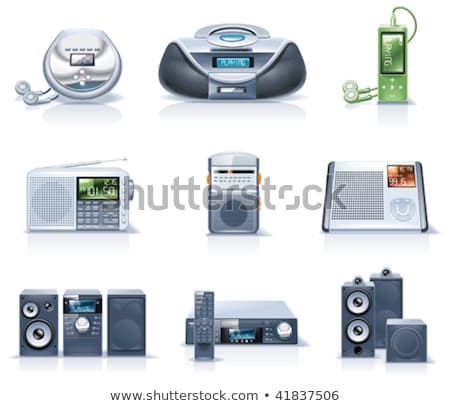 Dvd cd mp3 player with remote control Stock photo © ozaiachin