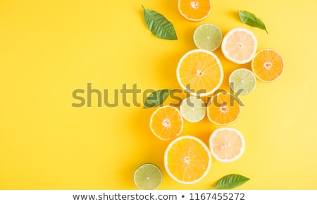 cítrico · fatias · toranja · limão · cal · laranja - foto stock © oksix