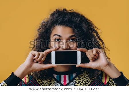 Woman with her hand over her mouth Stock photo © photography33