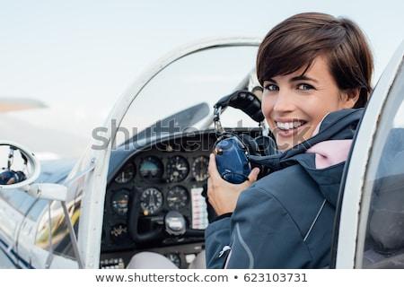 aeronaves · cielo · azul · cielo · viaje · avión · volar - foto stock © photography33