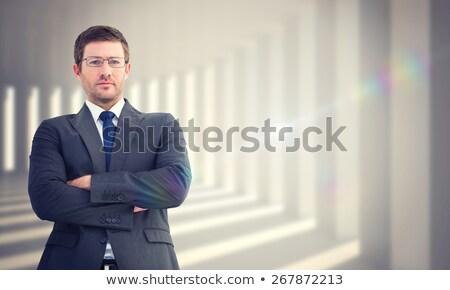 popa · olhando · empresário · negócio · homem · atravessar - foto stock © photography33