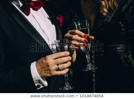 férfi · nő · flörtöl · iroda · szeretet · megbeszélés - stock fotó © photography33