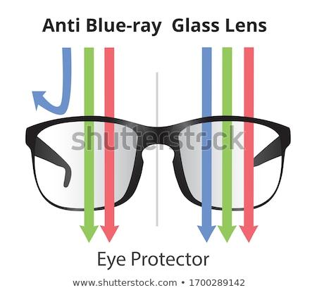 produtividade · azul · vidro · texto · 3D - foto stock © marinini