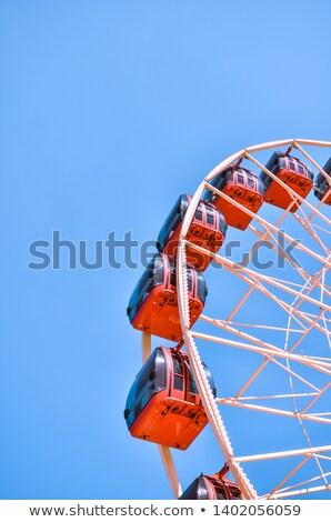 Groot wiel blauwe hemel detail metaal Stockfoto © prill