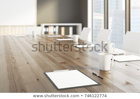 Stock photo: coffee cup and clipboard