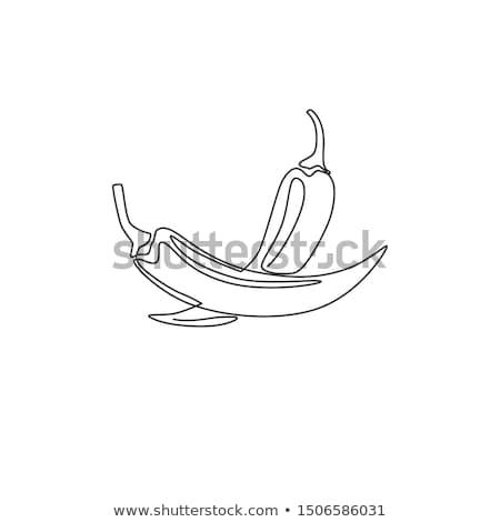 специи фото таблице продовольствие приготовления чили Сток-фото © Artlover