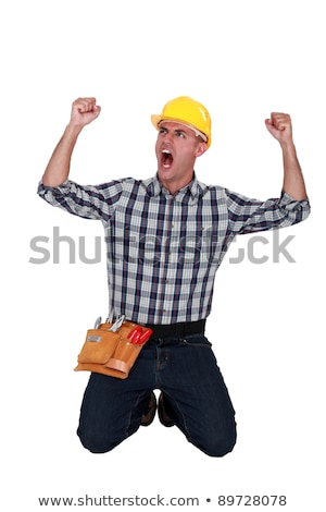 A cheerful tradesman Stock photo © photography33