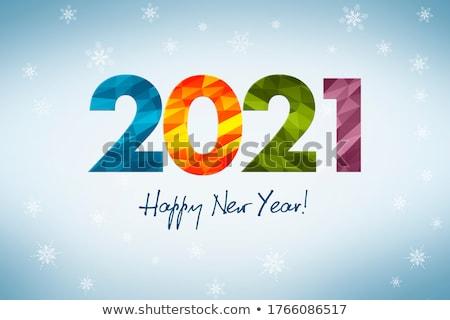 happy new year in colored figures Stock photo © marinini