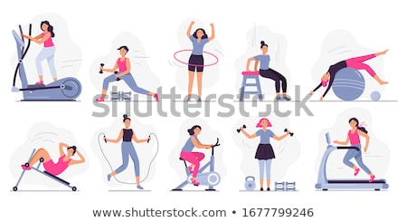 Woman with jump rope Stock photo © photography33