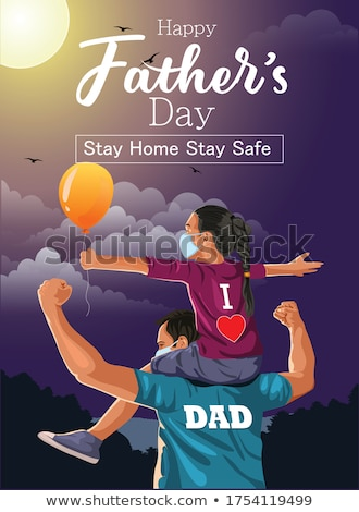 Pai filho piggyback praia família sorrir Foto stock © wavebreak_media