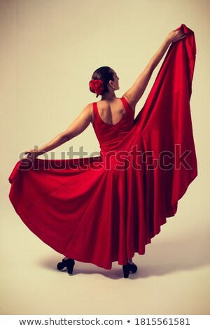 Expressive gypsy woman in a black skirt Stock photo © acidgrey