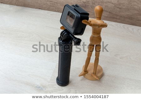 wooden puppet with camera and model Stock photo © compuinfoto