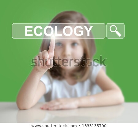 Recycle Icon On Screen Shows Environment Conservation Stock photo © stuartmiles