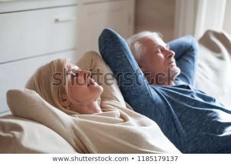 Couple sieste canapé femme homme Photo stock © photography33
