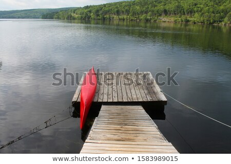 kayaks on a dock Stock photo © PixelsAway