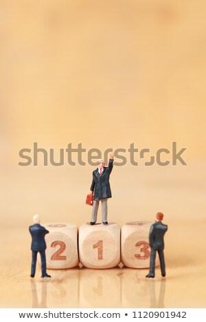 勝者 人 スタンド 賞 プラットフォーム ビジネス ストックフォト © Ansonstock
