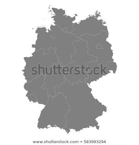 Германия · карта · стране · карт · кнопки · флагами - Сток-фото © Ustofre9