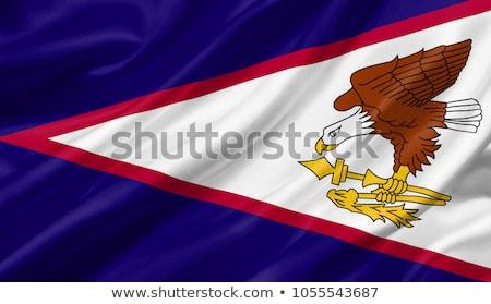 Tecido textura bandeira Samoa Americana azul arco Foto stock © maxmitzu