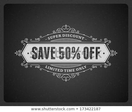 50 percentages off special offer   retro label stock photo © marinini
