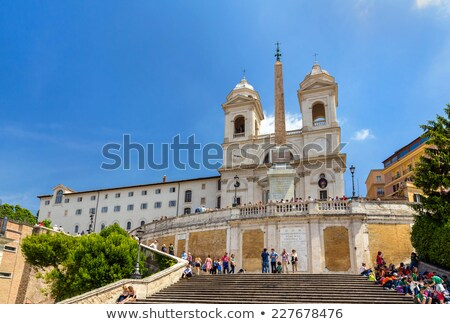 trinita dei monti church spanish steps stock photo © backyardproductions