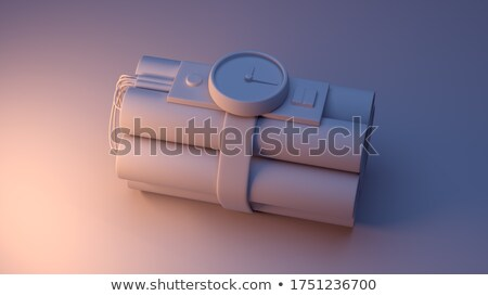 3d illustration dynamite horloge temps blanche Photo stock © kolobsek
