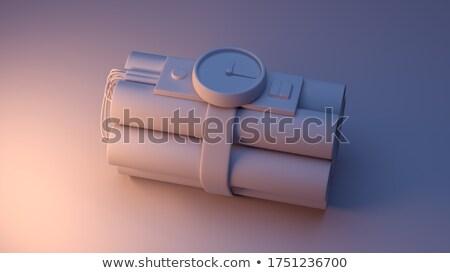 ilustração · 3d · dinamite · relógio · tempo · branco - foto stock © kolobsek