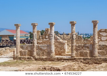 Roman Columns at the Paphos Archaelogical Park, Cyprus Stock photo © Snapshot