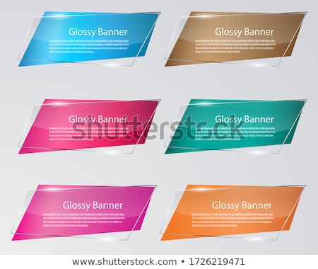 set of origami paper banners stock photo © fotoscool