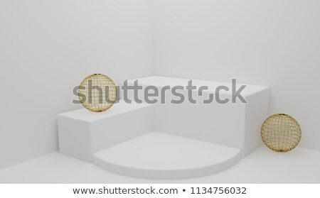 3D · resumen · cubo · pelota · forma · azul - foto stock © blotty