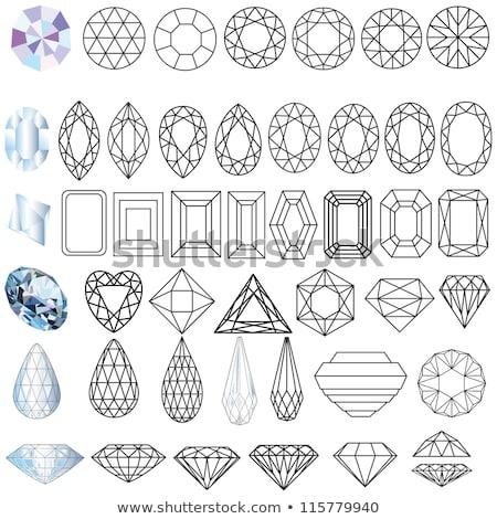 Diamant hart juweel bruiloft mode geschenk Stockfoto © carodi