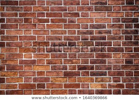 Rojo ladrillos pared textura edificio resumen Foto stock © dinozzaver