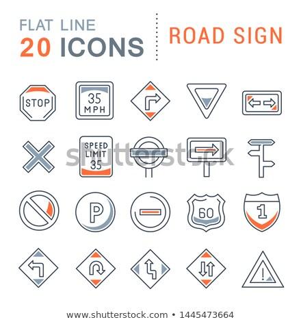 знак информации шоссе оба инструкция компьютер Сток-фото © Ustofre9