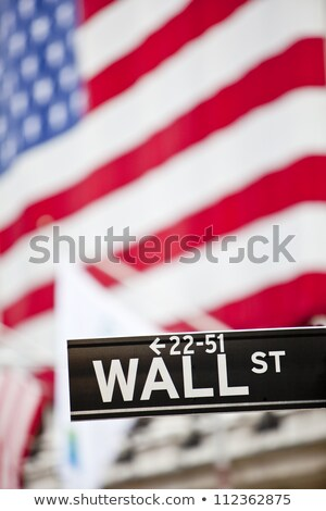 Wall Street in New York. (USA). Vertically. Stock photo © frank11