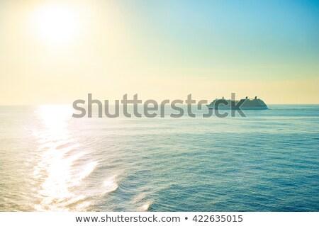 nascer · do · sol · mar · direito · brilhante · quente · sol - foto stock © thomaseder