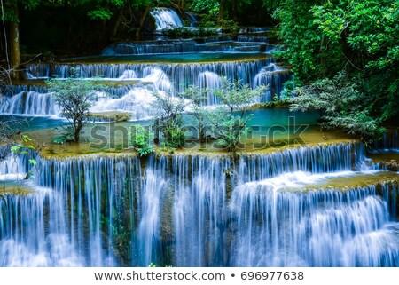 синий · воды · падение · подобно · всплеск - Сток-фото © lunamarina
