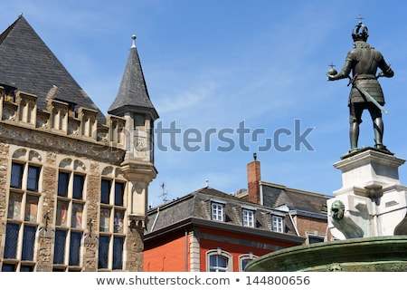 aachen market square in germany stock photo © aladin66