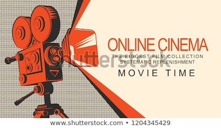 Laptop oude projector klein tonen film Stockfoto © Mikko