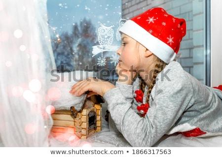 Karácsony dekoráció mézeskalács nő harang cukorka Stock fotó © mintymilk