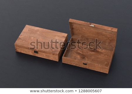 opened wooden gift box with with a lid Stock photo © PixelsAway