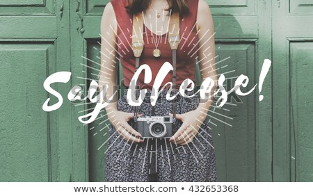 笑顔 · チーズ · 幸せ · 女性 - ストックフォト © stockyimages