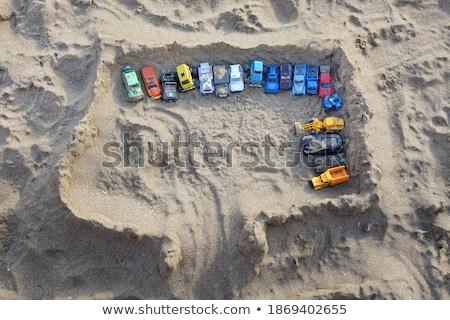 Giocattolo auto garage sabbia fuori costruzione Foto d'archivio © ultrapro