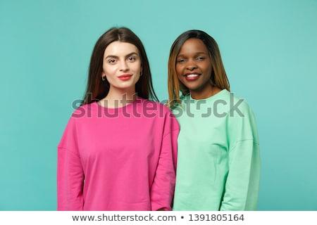Moda çift bakıyor kamera genç şüphe Stok fotoğraf © feedough
